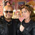 Ali Montana et Cindy Lopes  - Inauguration de la Fête à Neu-Neu au Bois de Boulgone, à Paris le 29 août 2014.