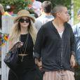 Exclusif - Ashlee Simpson et son fiancé Evan Ross vont déjeuner au restaurant The Ivy à Los Angeles, le 12 juillet 2014.