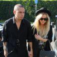 Ashlee Simpson et Evan Ros vony au restaurant Cecconi à West Hollywood, Los Angeles, le 6 août 2014