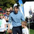 Le prince Daniel de Suède lors de la Journée du Sport Prince Daniel dans le parc du palais Haga, le 7 septembre 2014 à Stockholm