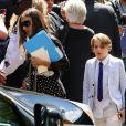 Sarah Jessica Parker et son fils James Broderick - Obsèques de Joan Rivers au Temple Emanu-El à New York, le 7 septembre 2014.