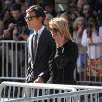 Ivanka Trump et son mari Jared Kushner - Obsèques de Joan Rivers au Temple Emanu-El à New York, le 7 septembre 2014.