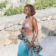 Beyoncé, toujours en vacances en Méditerranée, touche terre aux îles de Lerins. Cannes, le 8 septembre 2014.