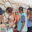 Beyoncé, Jay Z et Tina Knowles en vacances aux îles de Lerins. Cannes, le 8 septembre 2014.