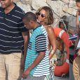 Beyonce et Jay Z vont déjeuner sur les îles de Lerins à Cannes le 8 septembre 2014.  Beyonce and Jay Z have lunch at the Lerins islands front Cannes in South France on september 8, 2014.08/09/2014 - Cannes