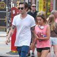 Ashley Tisdale et son époux Christopher French à New York, le 31 juillet 2014