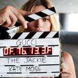 Kate Moss dans les coulisses de son tournage de The Jackie, pour Gucci.