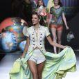 Alessadra Ambrosio défile pour Desigual lors de la Fashion Week de Madrid. Le 11 septembre 2014.