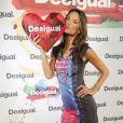 Alessandra Ambrosio en visite à la boutique Desigual à Madrid. Le 11 septembre 2014.