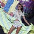 Alessandra Ambrosio était la star du défilé Desigual lors de la Fashion Week de Madrid. Le 11 septembre 2014.
