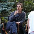 """Exclusif - Matthew McConaughey tond la pelouse sur le tournage du film """"Sea Of Trees"""" à Worcester dans le Massachusetts, le 29 août 2014."""