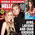 Avril Lavigne et Chad Kroeger posent lors de leur mariage dans le sud de la France le 1er juillet 2013, pour la couverture de Hello Canada, en kiosques le 15 juillet 2013.
