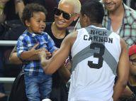 Amber Rose et son fils Sebastian : Duo craquant devant l'athlète Nick Cannon