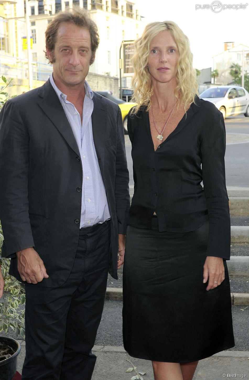 Vincent Lindon et Sandrine Kiberlain ensemble à Angoulême le 26 août 2009.
