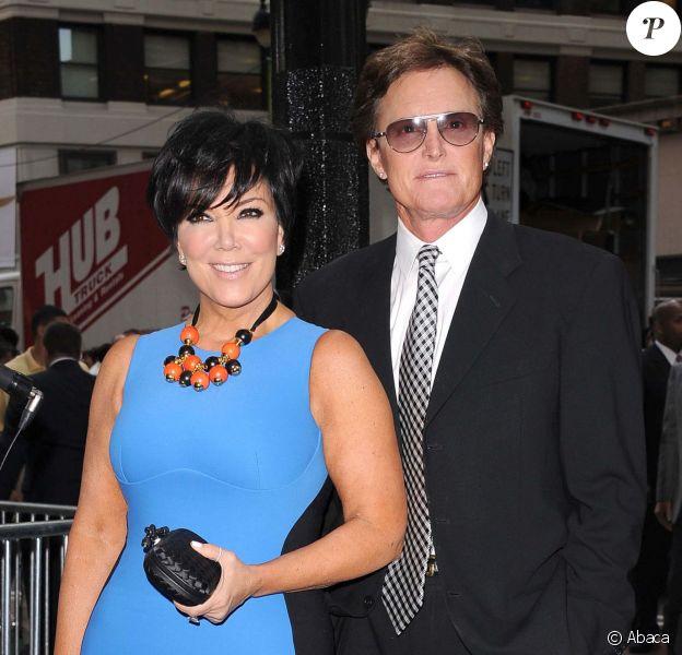 Kris et Bruce Jenner à New York, le 30 avril 2012.
