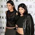 Kendall Jenner et Kylie Jenner à New York, le 28 août 2014.