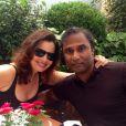 Fran Drescher et son nouveau mari  Shiva Ayyadurai en lune de miel à Paris, le 17 septembre 2014.