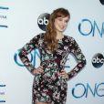Elizabeth Lail, lors de la soirée de lancement de la quatrième saison de Once upon a time à El Capitan Theater de Hollywood, le 21 septembre 2014