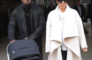 Kim Kardashian, Kanye et North West : Arrivée en famille à Paris