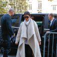 Kim Kardashian arrive au Royal Monceau. Paris, le 24 septembre 2014.