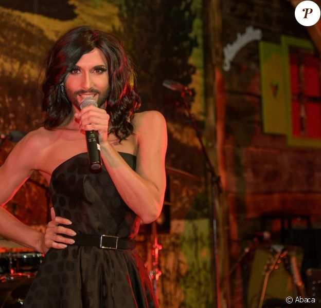 Conchita Wurst à la soirée Trachtenpaerchen Ball à Vienne, le 20 septembre 2014