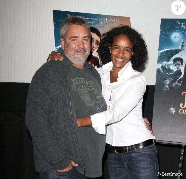 """Luc Besson et sa femme, la productrice Virginie Besson-Silla - Projection du film """"Jack et la mécanique du cœur"""" à Hollywood le 24 septembre 2014."""