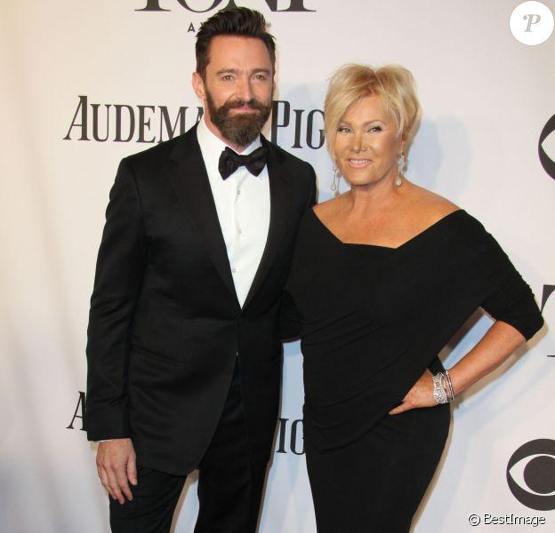"""Hugh Jackman et sa femme Deborra-Lee Furness - 68ème cérémonie des """"Tony Awards"""" à New York, le 8 juin 2014"""