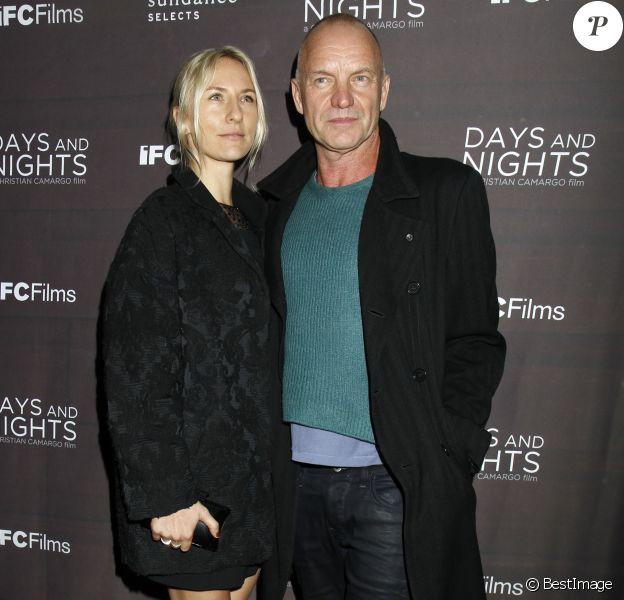 "Sting et sa fille Mickey Sumner - Première du film ""Days And Nights"" à New York le 25 septembre 2014."