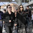 Bono et sa femme Ali Hewson arrivent à Venise, le 27 septembre 2014, pour le mariage de George Clooney et Amal Alamuddin.