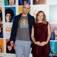 """Julien Neel et Ludivine Sagnier lors de l'avant-première du film """"Lou ! Journal infime"""" au cinéma MK2 Bibliothèque à Paris, le 28 septembre 2014."""