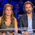 Léa Salamé et Aymeric Caron dans On n'est pas couché, le samedi 27 septembre 2014.