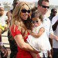 Mariah Carey, Nick Cannon et leurs jumeaux Monroe et Moroccan à Santa Monica, le 6 octobre 2012.