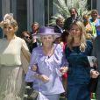 Maxima, Beatrix, Mabel et Willem-Alexander des Pays-Bas en juin 2012 au mariage de la princesse Carolina de Bourbon-Parme et d'Albert Brenninkmeijer à Florence.