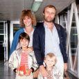Phil Collins avec sa femme Andrea Collins et leurs enfants Joely et Simon à Londres.