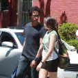 Lourdes et son père Carlos Leon à New York, le 11 mai 2014.