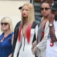 """Iggy Azalea et Rita Ora sont sur le tournage du clip """"Black Widow"""" à Los Angeles. Le 19 juillet 2014."""