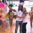 """Anthony Kavanagh et Silvia Notargiacomo - Quatrième prime de """"Danse avec les stars 5"""" sur TF1. Samedi 18 octobre 2014."""