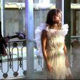 Priscilla Lopes dans le clip de Ma petite peau t'aime, en septembre 2014