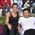 """Laure Manaudou et son frère Florent au """"GPA Jump Festival"""" à Cagnes-sur-Mer, le 29 mars 2014"""