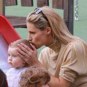Michelle Hunziker, enceinte : Maman tendre et stylée avec Sole