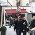 Vito Schnabel et sa compagne Heidi Klum à Paris, le 23 octobre 2014.