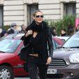Heidi Klum dans les rues de Paris, le 23 octobre 2014.