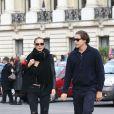 Heidi Klum et son compagnon Vito Schnabel dans les rues de Paris, le 23 octobre 2014.