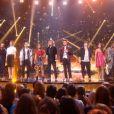 Hommage à Gael Lopes des 14 candidats de Rising Star, le 23 octobre 2014, sur M6