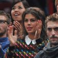 Noura, la compagne de Jo-Wilfried Tsonga lors du match de ce dernier au 3e jour du tournoi de tennis BNP Paribas Masters 2014 au palais Omnisports de Paris Bercy, le 29 octobre 2014 à Paris