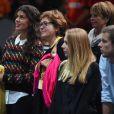 Noura, la compagne de Jo-Wilfried Tsonga, et la maman de ce dernier, Evelyne, au BNP Paribas Masters au POPB de Paris, le 29 octobre 2014