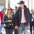 Le rockeur Tommy Lee et sa fiancée Sofia Toufa à New York le 27 octobre 2014.