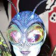 """Heidi Klum déguisée en papillon alien pour la 15ème soirée """"Moto X"""" d'Hallloween au """"TAO Downtown"""". New York, le 31 octobre 2014."""