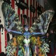 """Heidi Klum dans son costume de papillon alien pour la 15ème soirée """"Moto X"""" d'Hallloween au """"TAO Downtown"""". New York, le 31 octobre 2014."""