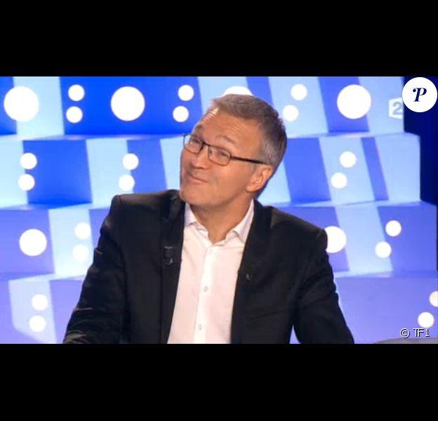 Laurent Ruquier sur le plateau d'On n'est pas couché, le samedi 25 octobre 2014.